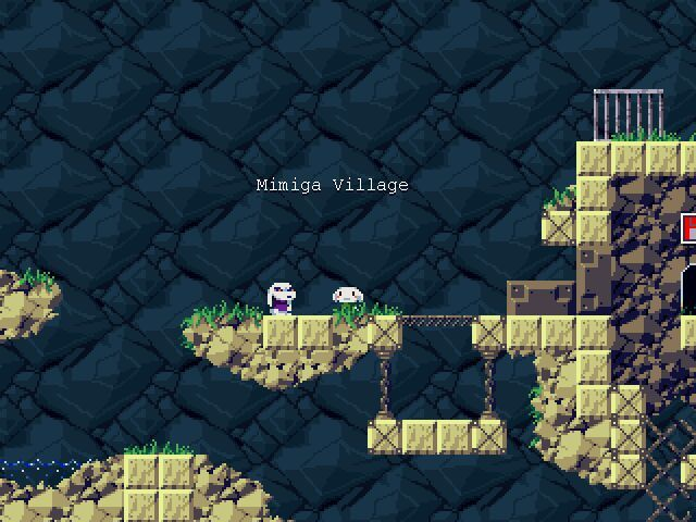 Cave Story Windows Meeting the bunnies