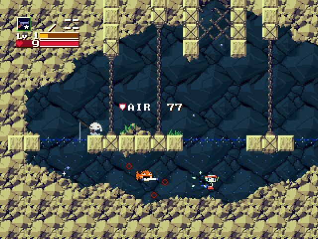 Cave Story Windows Underwater combat