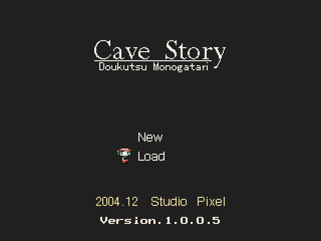Cave Story Windows Title Screen