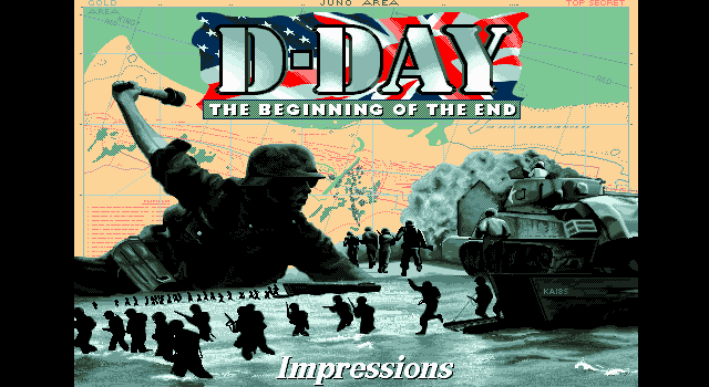 D-Day: The Beginning of the End DOS Title screen