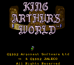 King Arthur's World SNES Title Screen
