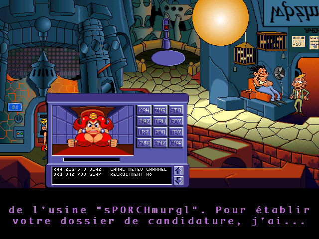 The Bizarre Adventures of Woodruff and the Schnibble Windows 3.x For some reason, when running the game in ScummVM, I had all different subtitle problems, such as subtitles appearing in the French version...