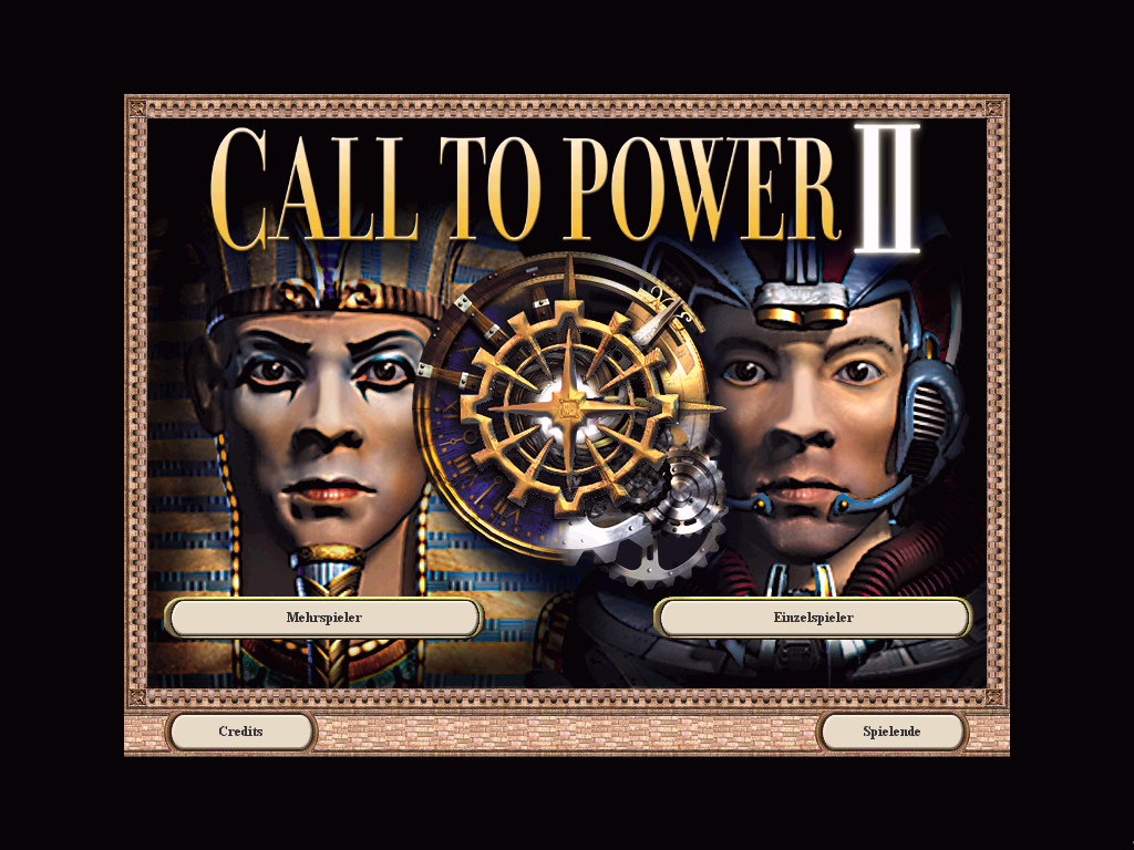Call to Power II Windows Title screen - Singleplayer/Multiplayer selection