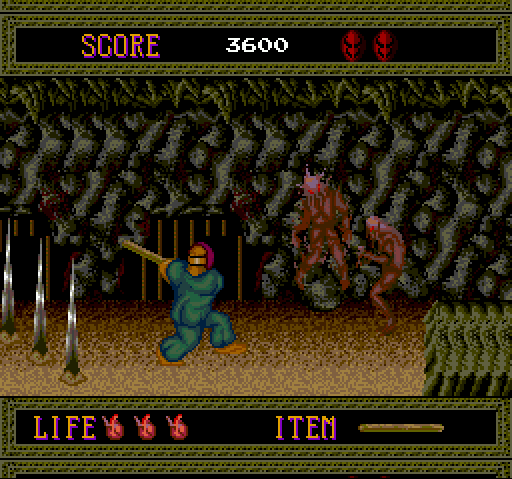 Splatterhouse TurboGrafx-16 Caverns
