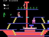 Popeye TI-99/4A Level three: watch out for those bottles being thrown at you