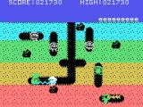 Dig Dug TI-99/4A Using the pump to destroy an enemy