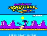 Desert Speedtrap starring Road Runner and Wile E. Coyote SEGA Master System Title screen