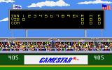 Championship Baseball Atari ST Scoreboard in the first inning...