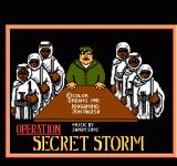 Operation Secret Storm NES Title Screen