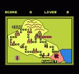 Operation: Secret Storm NES Map screen with an overview of all the levels