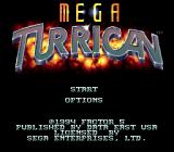 Turrican 3 Genesis Title screen