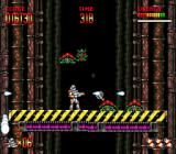 Mega Turrican Genesis Enemies attacking from the background