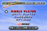 Cruis'n Velocity Game Boy Advance Main Menu