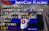 IndyCar Racing DOS main menu