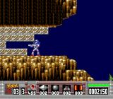 Turrican TurboGrafx-16 You can shoot blocks like these to open up a new path