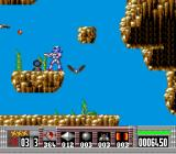 Turrican TurboGrafx-16 Destroy the black satellite