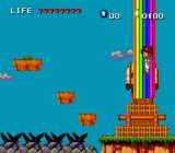 Keith Courage in Alpha Zones TurboGrafx-16 A rainbow takes you to another place