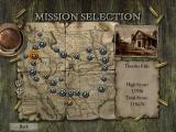 Dead Man's Hand Windows Missions are selected on a large map of the west.