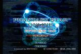 Phantasy Star Online Episode I & II GameCube Title Screen
