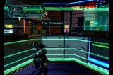 Phantasy Star Online: Episode I & II GameCube In town / These floating circles indicate a teleport pad