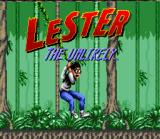 Lester the Unlikely SNES Title Screen