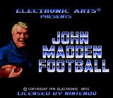 John Madden Football '92 SNES Title Screen