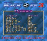 Kick Off 3: European Challenge SNES Game Options Interface