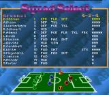 Kick Off 3: European Challenge SNES Squad Select Interface