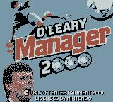 O'Leary Manager 2000 Game Boy Color Title Screen