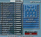 O'Leary Manager 2000 Game Boy Color Tactics