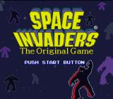 Space Invaders SNES Title screen.
