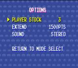 Space Invaders SNES Options screen. Why only THREE options?!?