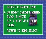 Space Invaders SNES This is the screen type select. Choose your favorite and good luck!