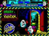 Dizzy: Prince of the Yolkfolk ZX Spectrum Title screen