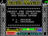 Castle Master ZX Spectrum Character selection