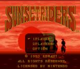 Sunset Riders SNES Main menu