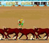 Sunset Riders SNES The best physical exercise for legs: race in bulls!