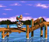 Donkey Kong Country 3: Dixie Kong's Double Trouble! SNES Ellie's secret morph: Metal Kiddy! A funny bug of the game