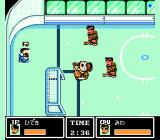 Ike Ike! Nekketsu Hockey-bu: Subete Koronde Dairantō NES My player is hit and cannot move