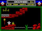 Fantasy World Dizzy ZX Spectrum A bottle of whiskey and a nice friendly stepping stone...