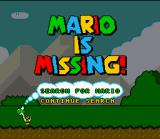 Mario is Missing! SNES After some unexpected facts, the title screen appears with 2 options.