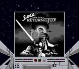 Super Star Wars: Return of the Jedi Game Boy The same title screen (in Super Game Boy).