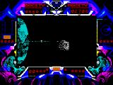 Purple Saturn Day ZX Spectrum Ring Pursuit: Gain and lose points in a race round Saturn