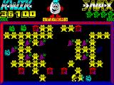 Kwik Snax ZX Spectrum Cuckoo - one of the enemies is pushed away