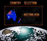 Top Gear 2 SNES The country selection screen allows you to continue a previous game