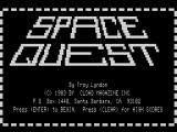 Space Quest TRS-80 Title Screen