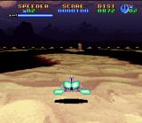 Super Star Wars: Return of the Jedi SNES This landspeeder level was made with SNES Mode 7 effect. 3D feeling!