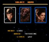 Super Star Wars: Return of the Jedi SNES Choose between 3 players in the beginning. Others will be available later in the adventure