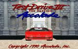 Test Drive III: The Passion DOS Title screen