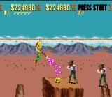 Sunset Riders SNES Crossing the ravine through the rope: the outlaws are of eye in everything and all!